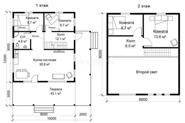 10х12 план